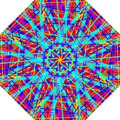 Colorful Pattern Hook Handle Umbrellas (large) by Valentinaart
