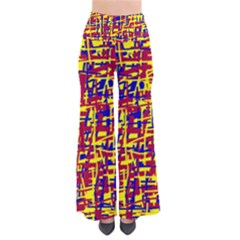 Red, Yellow And Blue Pattern Pants by Valentinaart