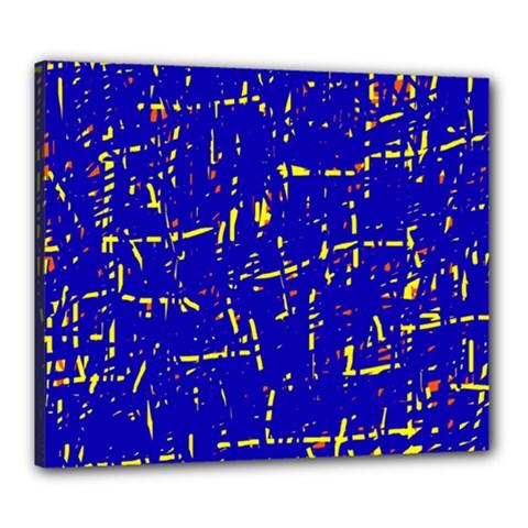 Blue Pattern Canvas 24  X 20  by Valentinaart