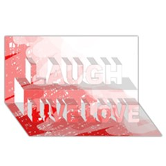 Red Pattern Laugh Live Love 3d Greeting Card (8x4)  by Valentinaart