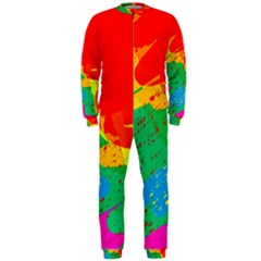 Colorful abstract design OnePiece Jumpsuit (Men)  by Valentinaart