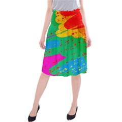 Colorful Abstract Design Midi Beach Skirt