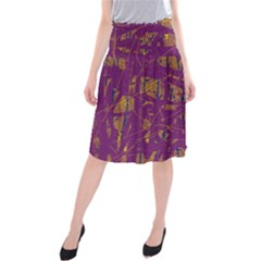 Purple pattern Midi Beach Skirt