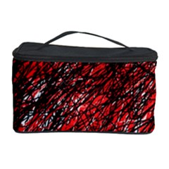 Red And Black Pattern Cosmetic Storage Case by Valentinaart