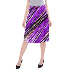 Purple Pattern Midi Beach Skirt by Valentinaart