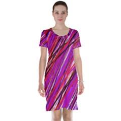 Purple pattern Short Sleeve Nightdress by Valentinaart