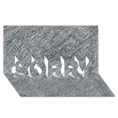Gray Pattern Sorry 3d Greeting Card (8x4)  by Valentinaart