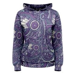 Purple Hippie Flowers Pattern, Zz0102, Women s Pullover Hoodie by Zandiepants