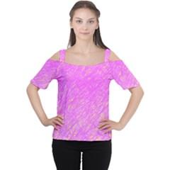 Pink Pattern Women s Cutout Shoulder Tee by Valentinaart