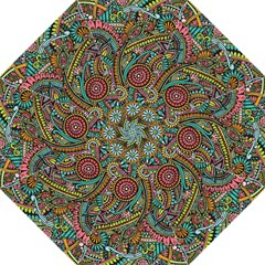 Colorful Hippie Flowers Pattern, Zz0103 Folding Umbrella by Zandiepants