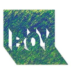 Green pattern BOY 3D Greeting Card (7x5) by Valentinaart