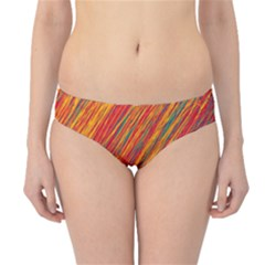 Orange Van Gogh pattern Hipster Bikini Bottoms