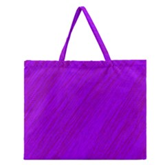 Purple Pattern Zipper Large Tote Bag by Valentinaart
