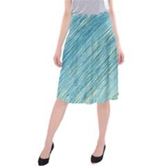 Light blue pattern Midi Beach Skirt