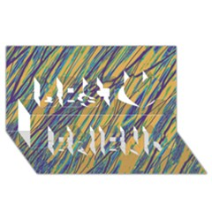 Blue and yellow Van Gogh pattern Best Friends 3D Greeting Card (8x4)  by Valentinaart