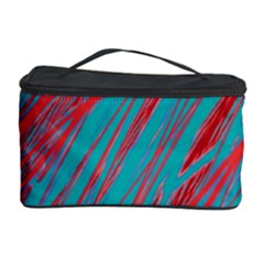 Red and blue pattern Cosmetic Storage Case by Valentinaart
