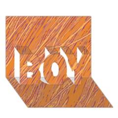 Orange pattern BOY 3D Greeting Card (7x5) by Valentinaart