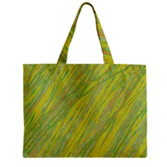 Green And Yellow Van Gogh Pattern Zipper Mini Tote Bag by Valentinaart