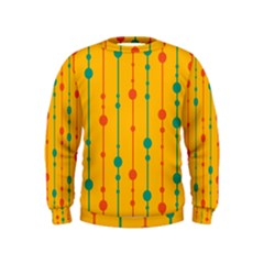 Yellow, Green And Red Pattern Kids  Sweatshirt