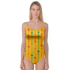 Yellow, green and red pattern Camisole Leotard