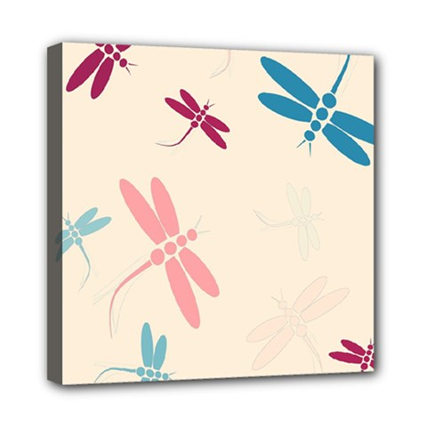 Pastel Dragonflies  Mini Canvas 8  X 8  by Valentinaart