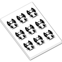 Black And White Fireflies Patten Large Memo Pads by Valentinaart