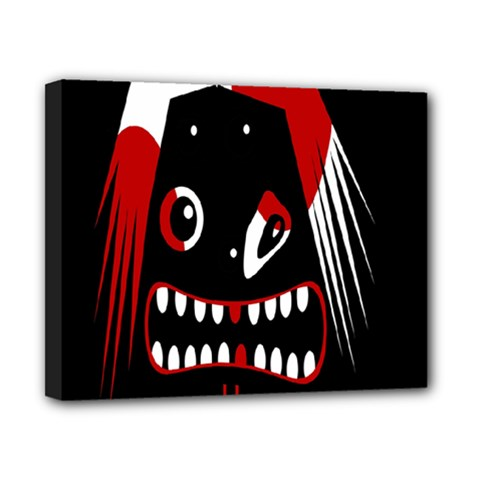 Zombie Face Canvas 10  X 8  by Valentinaart