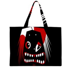 Zombie face Large Tote Bag by Valentinaart