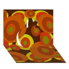 Orange Pattern Apple 3d Greeting Card (7x5)  by Valentinaart