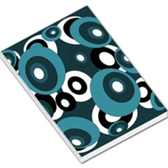Blue Pattern Large Memo Pads by Valentinaart