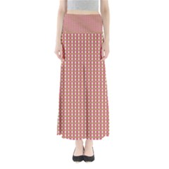 Mod Pink Green Pattern Maxi Skirts