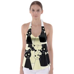 Chess Pieces Babydoll Tankini Top