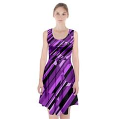 Purple Pattern Racerback Midi Dress