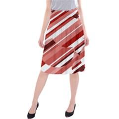 Orange Pattern Midi Beach Skirt