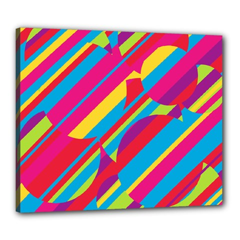 Colorful Summer Pattern Canvas 24  X 20  by Valentinaart