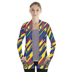 Colorful pattern Women s Open Front Pockets Cardigan(P194) by Valentinaart