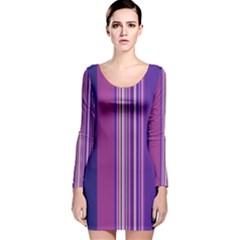 Striped Color Long Sleeve Velvet Bodycon Dress by olgart