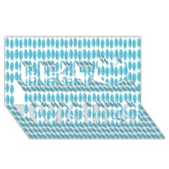 Blue Watercolour Leaf Pattern Best Wish 3d Greeting Card (8x4)  by TanyaDraws
