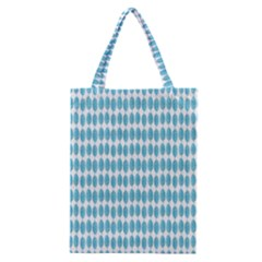 Blue Watercolour Leaf Pattern Classic Tote Bag by TanyaDraws
