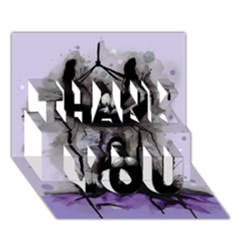 Suspension THANK YOU 3D Greeting Card (7x5)  by lvbart