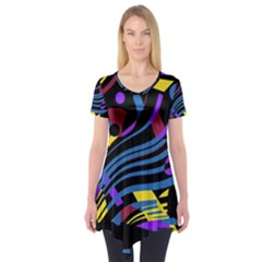 Decorative abstract design Short Sleeve Tunic  by Valentinaart