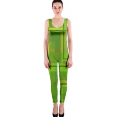 Green Pattern Onepiece Catsuit by Valentinaart