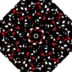 Red, Black And White Pattern Golf Umbrellas by Valentinaart