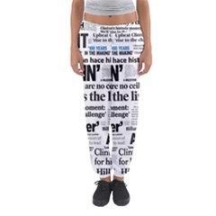 Hillary 2016 Historic Headlines Women s Jogger Sweatpants by blueamerica
