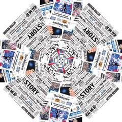 Hillary 2016 Historic Newspaper Collage Umbrella by blueamerica