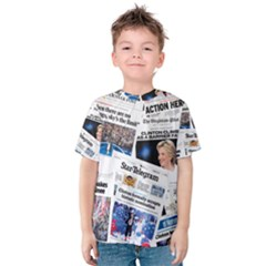 Hillary 2016 Historic Newspaper Collage Kid s Cotton Tee by blueamerica