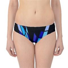 Blue abstart design Hipster Bikini Bottoms by Valentinaart