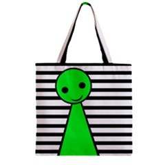 Green pawn Zipper Grocery Tote Bag by Valentinaart