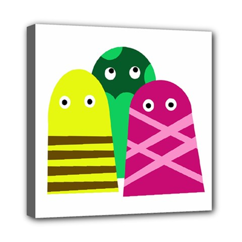 Three Mosters Mini Canvas 8  X 8  by Valentinaart