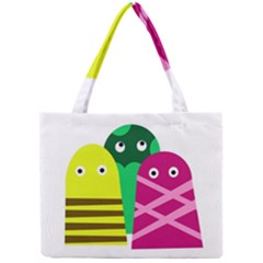 Three Mosters Mini Tote Bag by Valentinaart